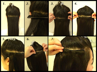How to put clip on hair extensions choice image hair extension 20 clip ins pmusecretfo choice image pmusecretfo Image collections